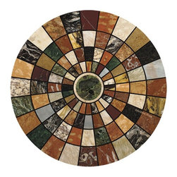 Thirsty Stone - Marble Mosaic Sandstone Coasters - Set of 4. Absorbent coasters. Real and natural Sandstone. Cork-backed to protect furniture. Made in the U.S.A.. No assembly required. 4 in. Dia. x 2 in. H (2 lbs.)