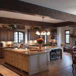 """Private Residences - Tuscany™ Collection 6-3/4"""" (17 cm) wide, Vintage French Oak hardwood floor, smooth face, hand beveled, hand distressed, dyed and stained in custom Bronze color, pre-finished with Hardwax Oil."""
