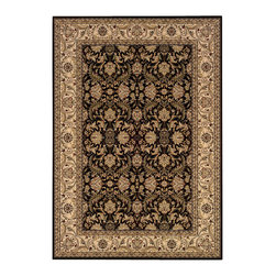 """Couristan - Himalaya Isfahan Rug 6259/1000 - 6'6"""" x 9'6"""" - This collection's wide appeal can work well with either contemporary or traditional interiors. Pull out one or more of the eight colors within the area rug to add a bit of elegance to your setting."""