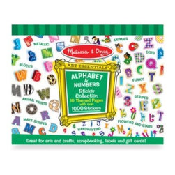 Melissa And Doug - Melissa & Doug Alphabet & Numbers Sticker Collection - Add pizzazz to scrapbooks, posters, cards and school projects with this fabulous collection of alphabet and number stickers.