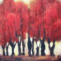 Art in Style - Art in Style Red Oak Trees Hand Painted on Canvas Wall Art - Title: Red Oak Trees Product type: Canvas art Style: Transitional