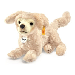Steiff - Steiff Lumpi Golden Retriever Dog - Steiff Lumpi Golden Retriever Dog is made of cuddly soft cream plush. Machine washable. Handmade by Steiff of Germany.