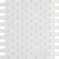 Vintrav Snow Flake 1/2 in. x 2 in. Glass Mosaic Tiles, Sheet - Vintrav Snow Flake 1/2 in. x 2 in. Glass Mosaic Tiles for Bathroom Floor, Kitchen Backsplash, unmatched quality.