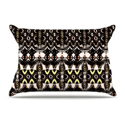 """Kess InHouse - Dawid Roc """"The Palace Walls"""" Brown Black Pillow Case, Standard, 30""""x20"""" - This pillowcase, is just as bunny soft as the Kess InHouse duvet. It's made of microfiber velvety fleece. This machine washable fleece pillow case is the perfect accent to any duvet. Be your Bed's Curator."""