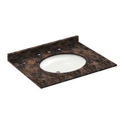LessCare - 31x22 Baltic Brown Granite Vanity Countertops - 8 Faucet Spread - *Condition: New
