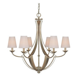 Capital Lighting - Capital Lighting Soho Transitional 6-Light Chandelier X-115-GW6334 - This beautiful chandelier features traditional elegance and beautiful craftsmanship. The Capital Lighting Soho Transitional chandelier comes in a bright winter gold finish. The decorative fabric shades offer warm lighting to the space creating a comfortable and welcoming atmosphere. This six-light chandelier provides additional charm and grace to the space.