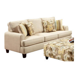 Chelsea Home Furniture - Chelsea Home Hudson Sofa Upholstered in MarloIvory - Hudson Sofa Upholstered in Marlo Ivory belongs to Verona VI collection by Chelsea Home Furniture.