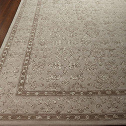 """Horchow - Vanilla Garden Runner 2'3"""" x 8' - Vanilla Garden Runner 2'3"""" x 8'DetailsRunner hand tufted of silk/wool blend.Size is approximate.Imported.See our Rug Guide for tips on how to measure for a rug choosing weaves and patterns and more.Please note: Rugs (especially wool rugs) are prone to a natural shedding process. With regular vacuuming the shedding will decrease over time. Hand-knotted rugs tend to shed less than hand-tufted rugs and flatweave rugs will shed less than those with a deeper pile but all rugs will shed more in high-traffic areas than they do in lower-traffic spaces. Unfortunately we cannot provide rug swatches at this time. We apologize for the inconvenience.We recommend using a rug pad with every indoor rug to prolong its beauty by minimizing everyday wear and tear and providing a little breathing space to help prevent fiber damage. A pad also helps stabilize the rug reducing slippage on hard floors."""