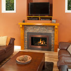 H4 Series Fireplace - H4 with Landscape Outer Surround (660LSV) and Copper Inner Bezel (661BSC)