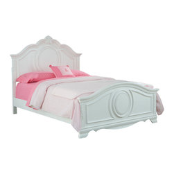 Standard Furniture - Standard Furniture Jessica Kids' Panel Bed in White - Twin - Charming and inviting,Jessica's delightful details will lend a lovely Victorian cottage ambiance to every young ladyóÇÖs bedroom space.