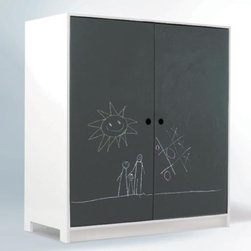 Parker Armoire, Chalkboard/White - I like the kind of storage that is immediately hidden with a simple turn. This functional piece of furniture will not only house the castle, Hot Wheels garage and My Little Pony hotel, but also provide entertainment and a creative outlet for the little ones.