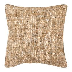 Chandra Rugs - Handmade Contemporary Pillows (Without Down) - CUS28011- 1'6 x 1'6 - White,Brown - Handmade Contemporary Pillows (Without Down) - CUS28017 - 1'6 x 1'6