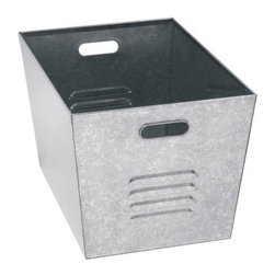 Edsal Galvanized Steel Utility Bin - Set of 6 - The Edsal Galvanized Steel Utility Bin - Set of 6 is perfect for anyone kicking their way around a cluttered work environment. These six galvanized steel bins will keep tools, spare parts, and anything else you want neatly organized. These 12W x 11D x 17H inch bins can carry 50 lbs. of weight and are easily moved using the rolled-edge handles. A gray rust- and corrosion- resistant finish on every bin makes this a set you can depend on.Additional Information50-lb. weight capacity per binGray finishPerfect for storing automotive supplies, tools and spare partsAbout Edsal ManufacturingFor over 30 years, Edsal has been dedicated to providing companies with only the best storage systems and industrial furniture. Today, products marketed under the Edsal brand name have earned a substantial share of the market in every region of the country. The Chicago-based company offers an extensive product line, including five grades of industrial shelving as well as pallet and bulk storage racks for heavier applications. It also manufactures a complete selection of the most popular industrial furniture items, including storage cabinets, lockers, service carts, workbenches, and stools.