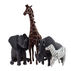 Organic Felt Animals - These handmade animals were originally made by Iris Savir to cheer up children who were having a hard time. They are special enough to leave out all the time as a decoration, and totally play friendly.