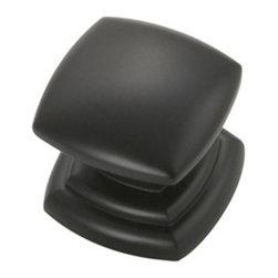 Hickory Hardware - 1-1/4 In. Corinth Matte Black Cabinet Knob (BPP3181-MB) - 1-1/4 In. Corinth Matte Black Cabinet Knob