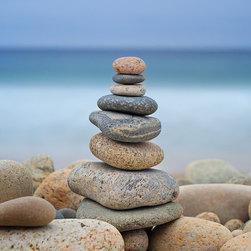 Rock Cairns on Beach Zen Photo Print -