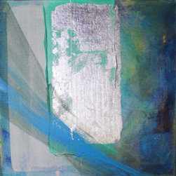 """Silver Light"" (Original) By Robert And Michelle Casarietti - 'Silver Light'' Is An Original 12 X 12, Collaborative, Abstract Acrylic Painting. As The Painting Evolves Into Being, Thoughtful Compositions Arise, Colors And Textures Emerge. Michelle & Robert Use Many Layers Of Paint; Shades Of Blues, Turquoise, Gray, Green And Silver Leaf Creating A Variety Of Thicknesses And Textures.  This Piece Is Meant To Bring Beauty And Calm Wherever It Is Placed, Allowing The Viewer To Take Time To Simply Be. Gallery-Wrapped Canvas Has Edges Painted To Match The Front Of The Piece. Signed On The Back And Ready To Hang. This Piece Can Easily Be Framed Too!"