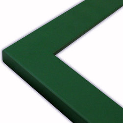 The Frame Guys - Flat Green Picture Frame-Solid Wood, 13x19 - *Flat Green Picture Frame-Solid Wood, 13x19