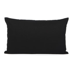 "Blooming Home Decor - Solid Black Accent / Throw Pillow Cover (Medium weight fabric) - (Available in 16""x16"", 18""x18"", 20""x20"", 24""x24"", 26""x26"", 12""x20"", 20""x54"")"
