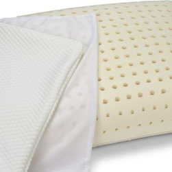 Innergetic - Innergetic Natural Latex Bedroom Pillow, Queen - Maintains form and firmness, never fluff again!  Contours to the neck and head for optimum comfort and support.  Ventilated and cooler than memory foam.  Naturally hypoallergenic, antibacterial, and anti-microbial.  Resists mold, mildew, and bedbugs.