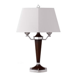 Cal Lighting - Cal Lighting BO-694 60 W X 2 Resin/Metal Desk/ Table Lamp - 60W X 2 Resin/Metal Desk/Table Lamp