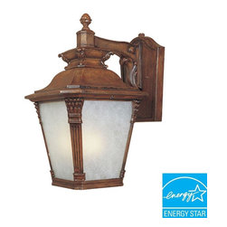 Designers Fountain - Designers Fountain Wall Mounted Naples Aged Venetian Walnut Lantern Outdoor - Shop for Lighting & Ceiling Fans at The Home Depot. Naples outdoor lanterns are specially designed with a unique embellished style that complements the exterior decor of any home. This collection features cast arms with a base and column motif. The solid aged Venetian walnut finish and Tuscan beige glass