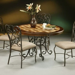 Pastel Furniture - Magnolia 5 Piece Dining Table Set in Autumn Rust - MA520-860- - Set includes Table and 4 Chairs