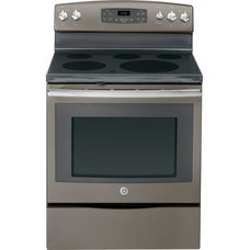 GE 5.3 cu. ft. Electric Range with Self-Cleaning Oven in Slate-JB650EFES at The