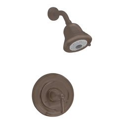 American Standard - Portsmouth Metal Shower Trim Kit in Oil-Rubbed Bronze - American Standard T420.501.224 Portsmouth Metal Shower Trim Kit in Oil-Rubbed Bronze. Install the American Standard Portsmouth Metal Shower Trim Kit in Oil-Rubbed Bronze in your bathroom to enjoy its traditional styling and old-world charm. This shower trim kit is constructed from durable metal material and features a round escutcheon and a FloWise 3-function showerhead.American Standard T420.501.224 Portsmouth Metal Shower Trim Kit in Oil-Rubbed Bronze, Features:For use with American Standard products (sold separately)