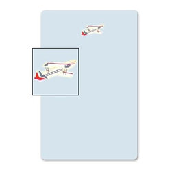 Patch Magic - Airplane Fitted Crib Sheet - Includes: 1 fitted sheet. 28 in. W x 53 in. L. Handmade. 100% Cotton. Machine washable