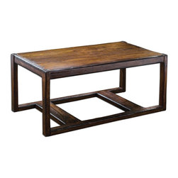 Uttermost - Wood Deni 48In.W Mango Wood Coffee Table - Wood Deni 48In.W Mango Wood Coffee Table