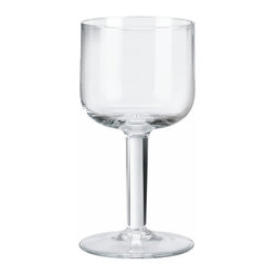 Alessi - Alessi 'All-Time' Wine Glass, Set of 4 - With its rounded square bowl and chunky stem, this is your ideal everyday wineglass. It's one of those little things you rely on to make real life extraordinary.