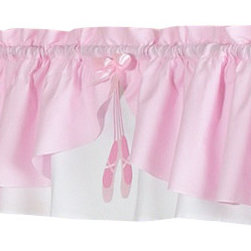 Sweet Jojo Designs - Ballerina Window Valance - The Ballerina window valance will help complete the look of your Sweet Jojo Designs room. This valance softens the look of the window and obscures pulled up blinds. It will coordinate nicely with your Sweet Jojo Designs bedding or can be used as an accent with your own room design.
