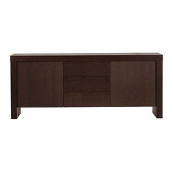 Temahome - Kobe 2 Doors & 3 Drawers Sideboard, Chocolate - The robust Kobe sideboard brings style into any home. The Kobe's ample storage space, is available with three doors or two doors & three deawrs.  A piece made to last that lends a modern accent to every room.