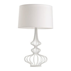Arteriors Eloise White Wire Lamp - This is my favorite table lamp at the moment. It is so beautiful.
