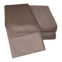 1000 Thread Count Cotton Rich Olympic Queen Taupe Sheet Set - Cotton Rich 1000 Thread Count Olympic Queen Taupe Sheet Set