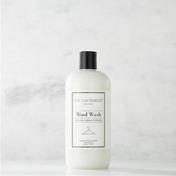 The Laundress® Wool Wash 16oz. - Make trips to the dry cleaner a thing of the past. Formulated exclusively for Clean Slate™, this ultra-gentle, eco-friendly wash by The Laundress® is subtly infused with the scent of lavender. Designed to effectively clean your most delicate fine wools, cashmere and mohair, this fabric-care detergent preserves the natural oils in the fibers to extend the life of your wardrobe. It also lends more fluff to fabrics unlike dry cleaning, which flattens and weakens fibers. The plant-based formula is 100% biodegradable, non-toxic and allergen-free with no artificial colors or dyes, making it a kind choice for both the environment and sensitive skin.