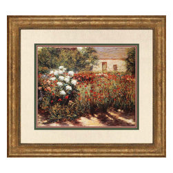 Paragon - Garden at Giverny - Framed Art - Each product is custom made upon order so there might be small variations from the picture displayed. No two pieces are exactly alike.