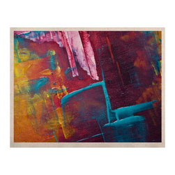 """Kess InHouse - Malia Shields """"Cityscape Abstracts II"""" Multicolor Painting Naturals Canvas (11"""" - Display your favorite KESS Naturals Canvas with organic elegance. KESS InHouse is proud to feature our entire artist gallery as the KESS Naturals collection. These unique artworks are recreated on a recycled burlap using only eco-friendly inks. They have a rustic fabric feel that we suggest framing without glass to fully convey the luxe texture of these prints. This eco-friendly material has been used by artists for centuries as an alternative to canvas. Upon ordering you will receive the artwork frameless to give you the best possible shipping and framing flexibility."""