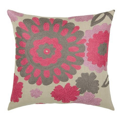Rizzy Home - Pink and Gray Decorative Accent Pillows (Set of 2) - T03483 - Set of 2 Pillows.