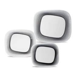 Oxford Porcelains - Karim Rashid Colletion -Wisk- Dinner set with 12pc - The set includes 4 Dessert plates, 4 Soup Plates, 4 Dinner plates