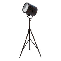 Benzara - Metal Mirror Home Decor A Curious Interior Accent - METAL MIRROR HOME DECOR is a curious interior accent product for your home. It looks like a simple spotlight on a tripod stand with lots of antique value.