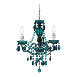 angelo:HOME - angelo:HOME Fulton 8504-3H Mini Chandelier- Dark Green - 8504-3H - Shop for Chandeliers from Hayneedle.com! Just like you the Angelo Surmelis Fulton Mini Chandelier- Dark Green is colorful and fashion-forward. This mini chandelier was designed by Angelo Surmelis. It features tear drops and bead detailing for a classic look yet is made ultra modern by its plastic construction and stunning dark green color. Gorgeous in any room in your home this mini chandelier is hand-crafted and may be either hardwired or used as a plug-in swag. About angelo:HOME:When he was 6 Angelo Surmelis and his family moved from Greece to the United States. In their new home 6-year-old Angelo started dragging furniture around rearranging it. From that early age he believed that your space - and the way it's arranged - can change the way you feel. This philosophy has landed him on design series on TLC Lifetime The Style Network and HGTV as well as several different television talk shows. Now with Angelo's line of furniture and accessories you can change your space - and the way you feel - quickly and affordably.