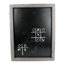 HomArt - Reclaimed Wood Chalkboard - Add a touch of rustic charm to your home with the Reclaimed Wood Chalkboard. Featuring a distressed gray wood frame, this rectangular chalkboard has a simple, vintage look that pairs well with both neutral and bold color schemes. Hang it in a kitchen, bedroom or office space.