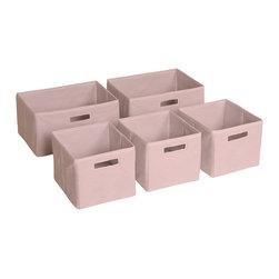 Guidecraft - Guidecraft Classic Fabric Baskets - Set of 5 - Guidecraft - Storage Bins - G85709 - Guidecraft fabric baskets.
