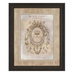 Paragon - La Petite Journal - Framed Art - Each product is custom made upon order so there might be small variations from the picture displayed. No two pieces are exactly alike.