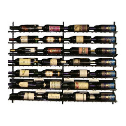 Wine Cellar Innovations - 3 Foot WineZone Wine Shelf Kit Option 1 - The WineZone Wine Shelf is a contemporary metal wine rack with a beautiful black finish in three and four foot heights. Versatile wine displays can be side to side or front to back. A wood wine shelf add on allows you to display liquors, glasses, cases, decanters, accessories, and more. Design and redesign based on your changing needs. Components sold separately. Easy assembly videos available.