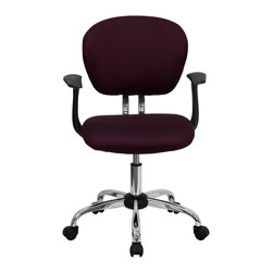 Flash Furniture - Flash Furniture Office Chairs Mesh Task Chairs X-GG-SMRA-YB-F-6732-H - This value priced mesh task chair will accommodate your essential needs for your home or office space. This chair will add a splash of color to your office for a non-traditional look. Chair features a breathable mesh material with a comfortably padded seat. [H-2376-F-BY-ARMS-GG]