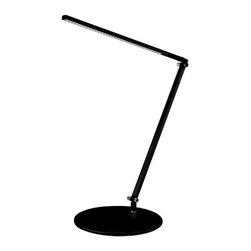 Koncept - Z-Bar Solo LED Desk Lamp, Warm Light Led Black - The Z-Bar collection broke the mold for desk and floor lamp design and introduced the world to Koncept's contemporary stylings. Our designers tossed away the bulb-and-shade for a flexible, streamlined design that contained LEDs and three simple bars. Add intuitive on/off functionality with a dimming option and the rest, as they say, is history. With several sizes to choose from, there's a Z-Bar for every need.