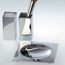 Modo Bath - Harmony Chrome Dish Soap - Harmony 404 Soap Dish in Chrome, Soap Dish/ Tray In Chrome or Nickel Satin, Free Standing, Made in Germany